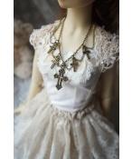 ドール用ネックレス 飾り物 1/3サイズ人形用 十字架Pray