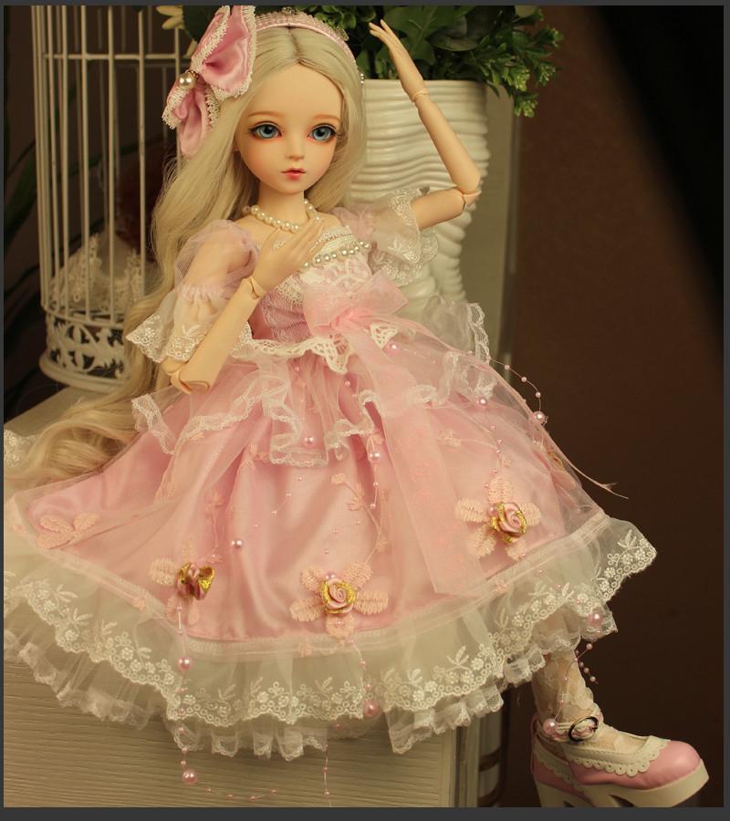 ドール本体 Doris Doll ウエディングドレス プリンセスセット BJD人形 SD人形 60cm製品図6
