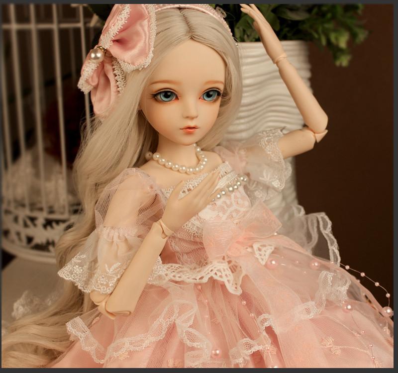 ドール本体 Doris Doll ウエディングドレス プリンセスセット BJD人形 SD人形 60cm製品図2