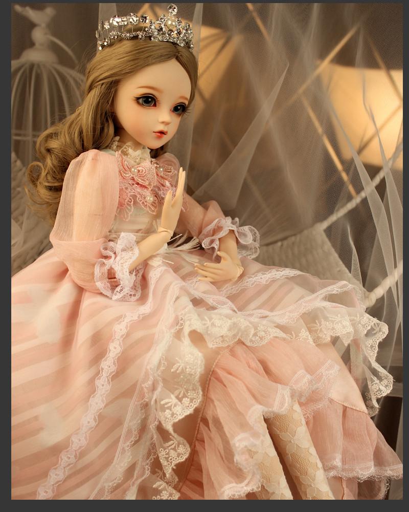 ドール本体 Doris Doll ウエディングドレス プリンセスセット BJD人形 SD人形 60センチ製品図5