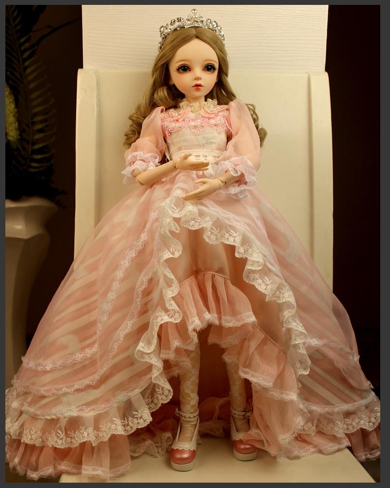 ドール本体 Doris Doll ウエディングドレス プリンセスセット BJD人形 SD人形 60センチ製品図6