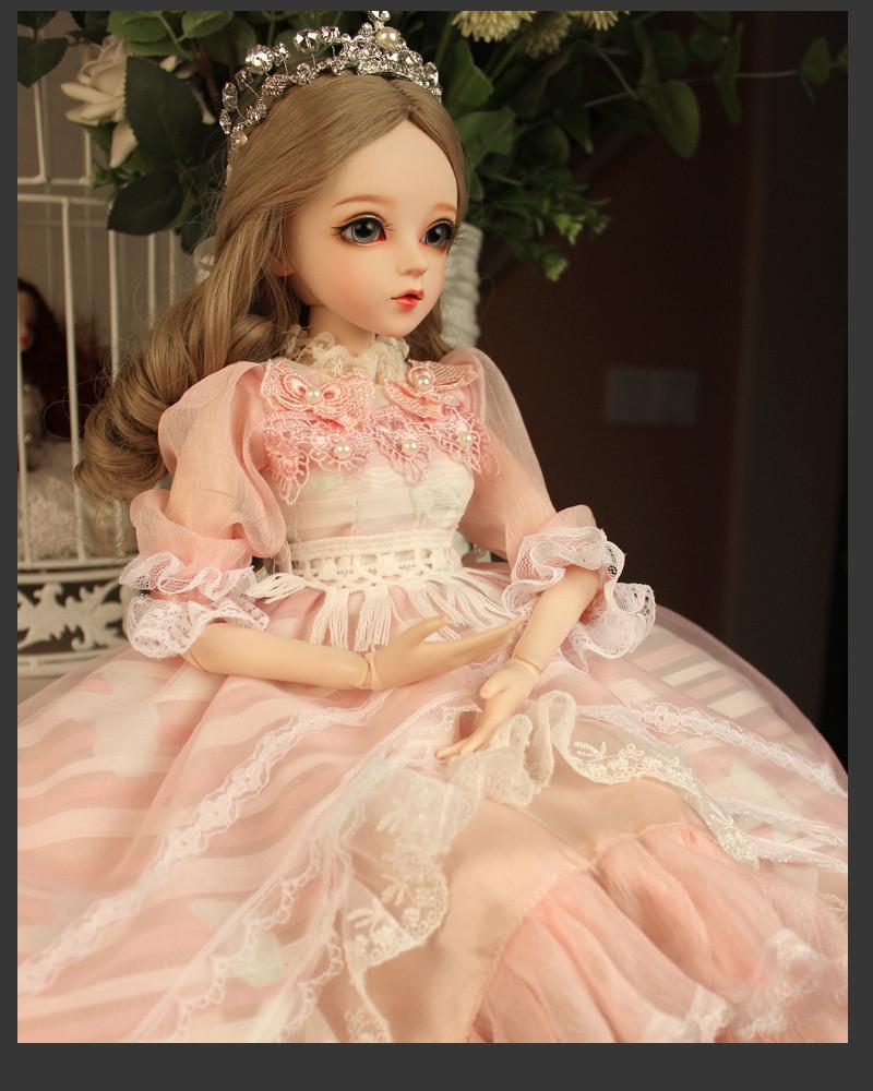ドール本体 Doris Doll ウエディングドレス プリンセスセット BJD人形 SD人形 60センチ製品図2