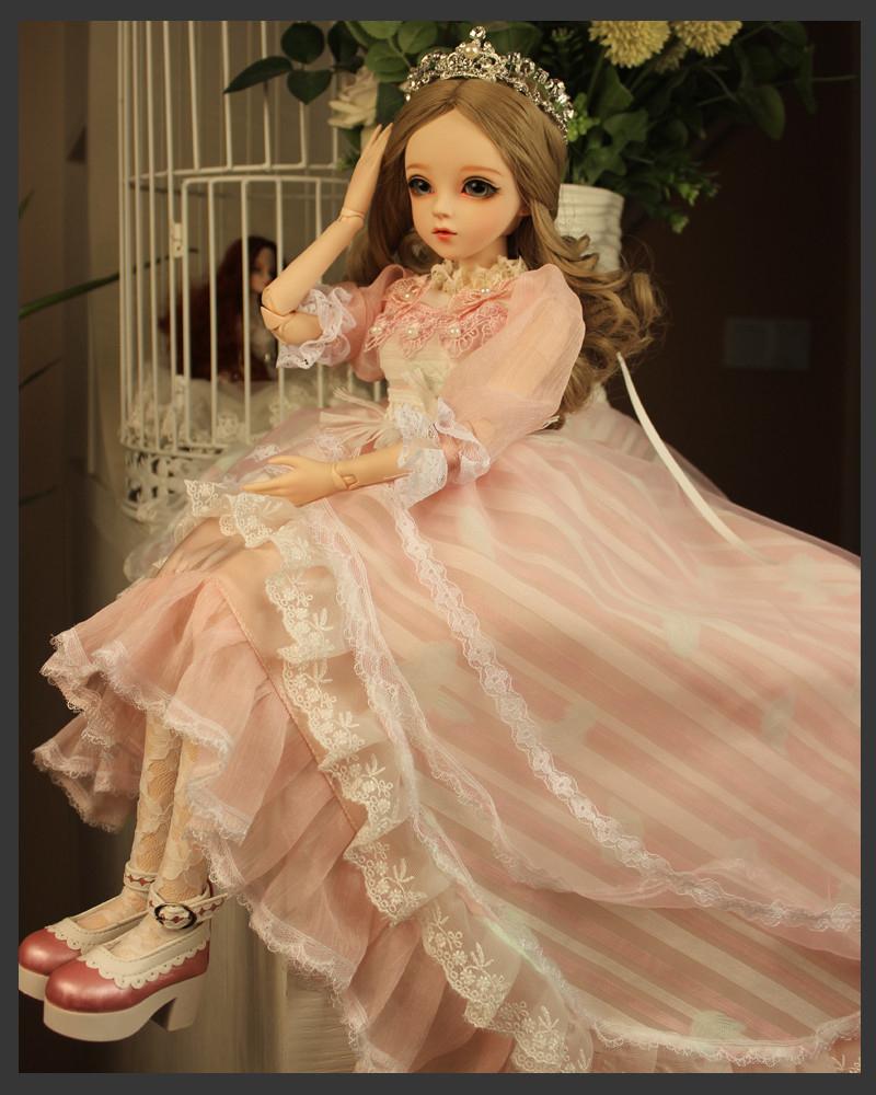 ドール本体 Doris Doll ウエディングドレス プリンセスセット BJD人形 SD人形 60センチ製品図4