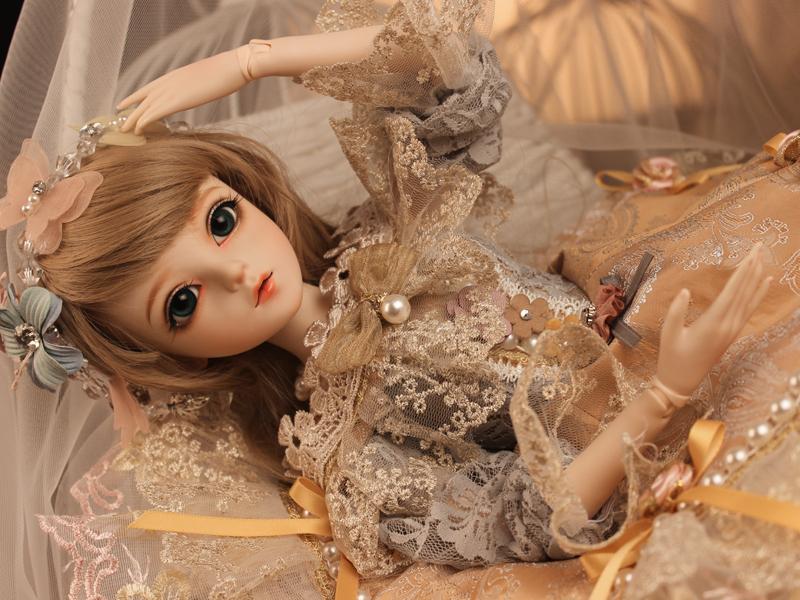 ドール本体 Doris Doll キティ ウエディングドレス BJD人形 SD人形 60センチ製品図5