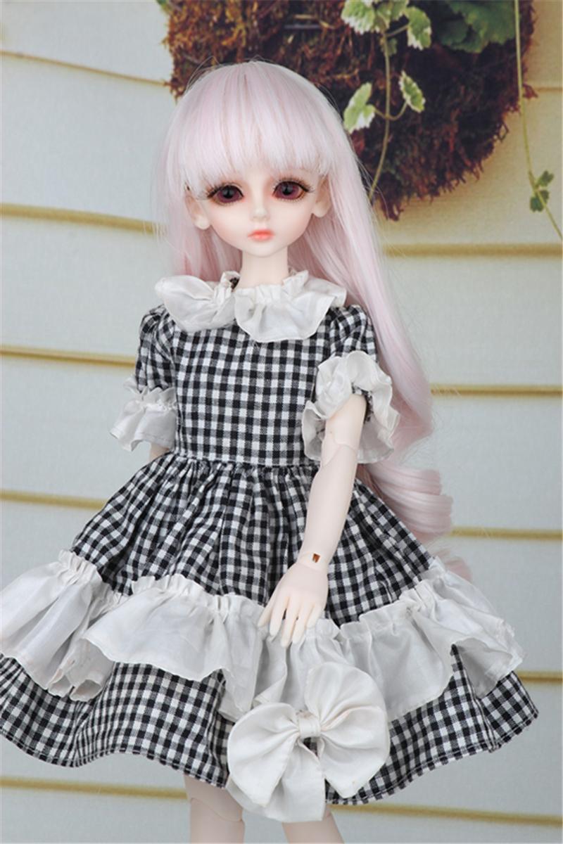 ドール衣装 黒白スカート蝶結び BJD衣装 1/4 サイズが注文できる製品図1