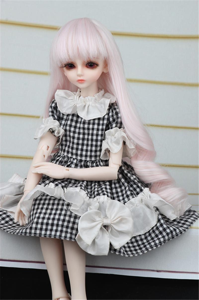 ドール衣装 黒白スカート蝶結び BJD衣装 1/4 サイズが注文できる製品図2