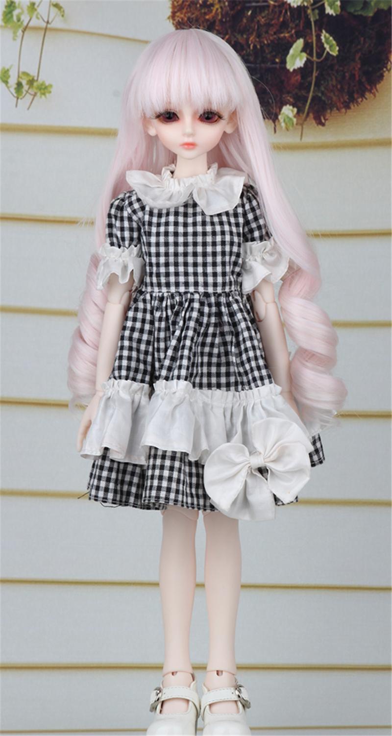 ドール衣装 黒白スカート蝶結び BJD衣装 1/4 サイズが注文できる製品図3