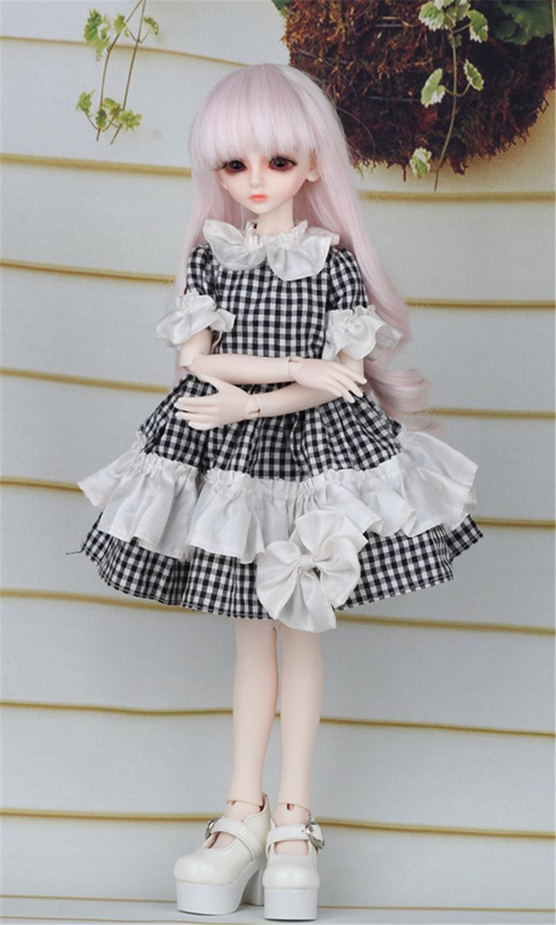 ドール衣装 黒白スカート蝶結び BJD衣装 1/4 サイズが注文できる製品図4