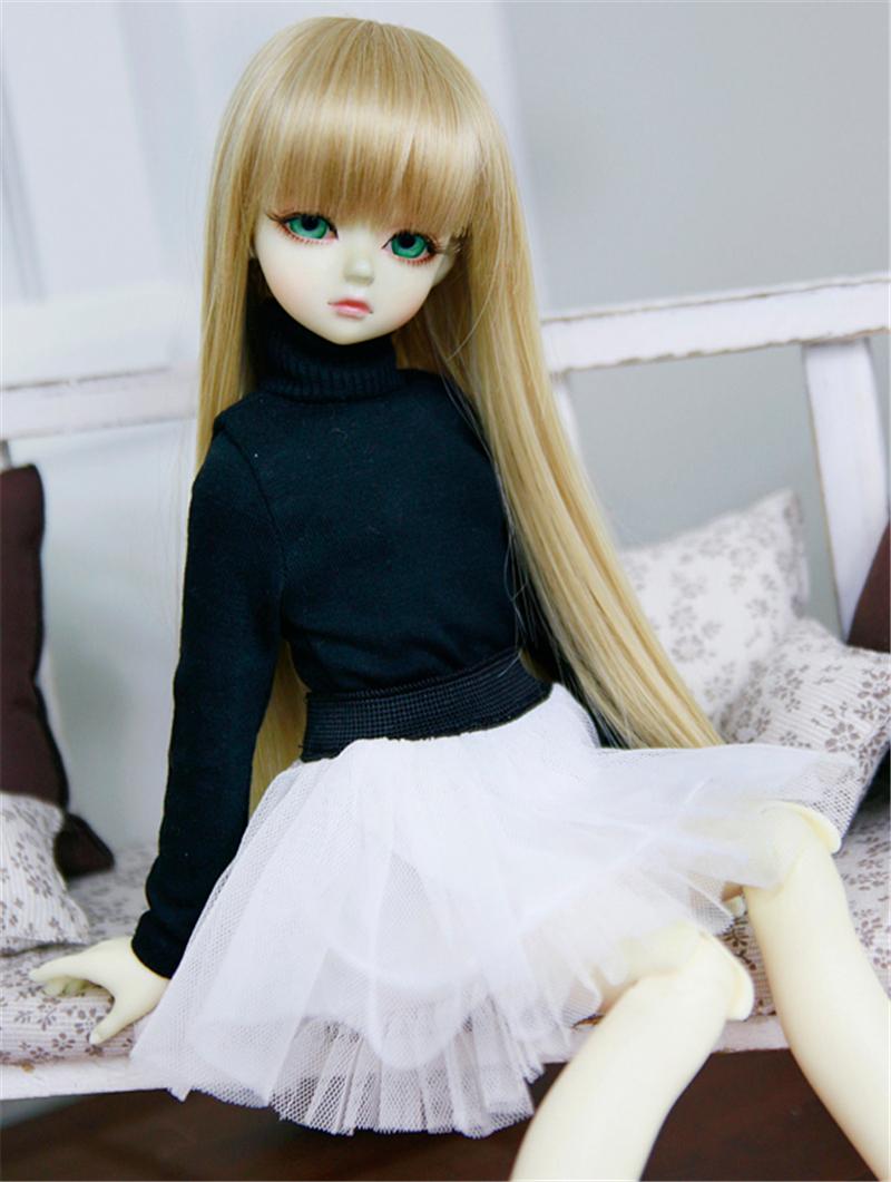 ドール衣装 ハイネック服+白レーススカート BJD衣装 1/4 サイズが注文できる製品図1