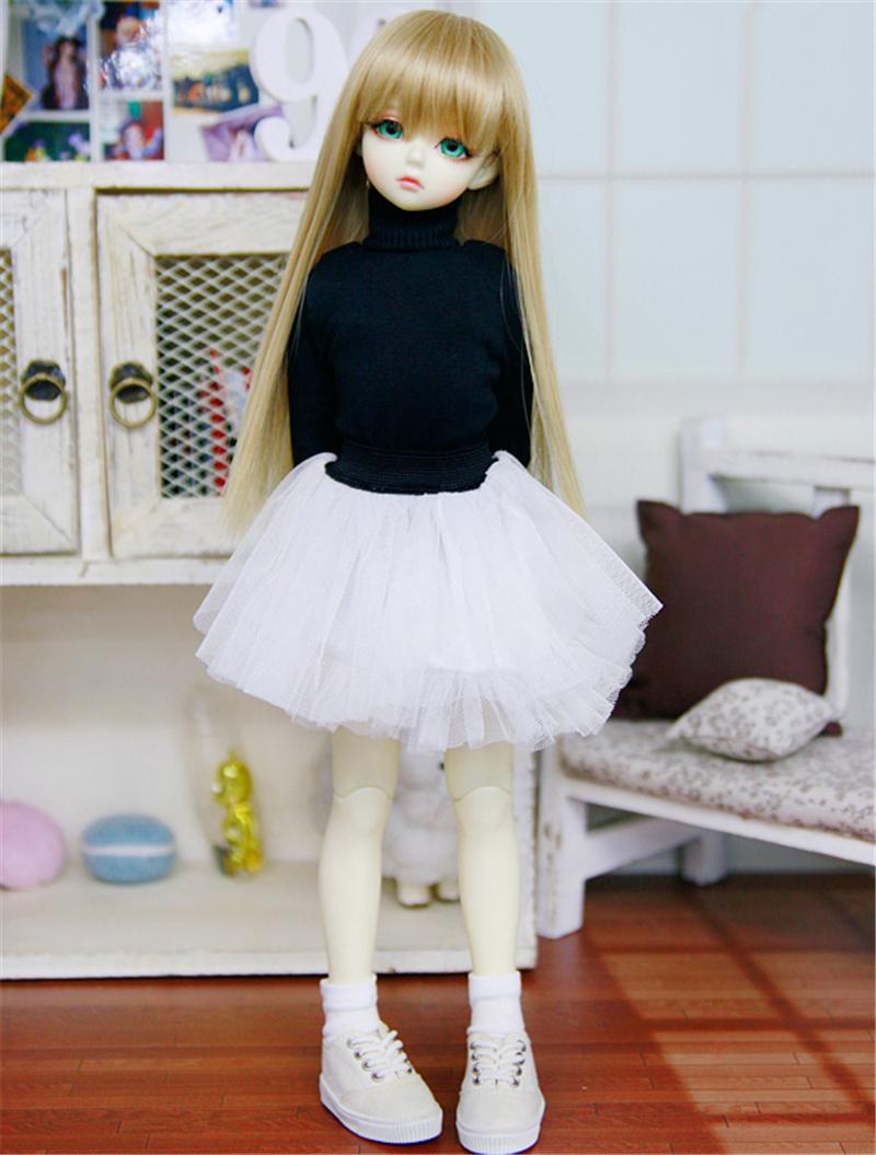 ドール衣装 ハイネック服+白レーススカート BJD衣装 1/4 サイズが注文できる製品図3