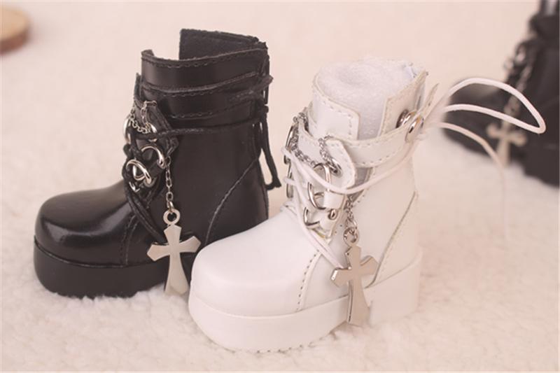Bjd靴  ドール靴  ロザリオ 短靴 黒白 人形靴 1/4 単独で購入できない製品図5