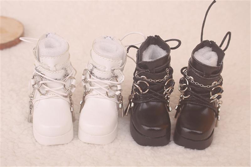 Bjd靴  ドール靴  ロザリオ 短靴 黒白 人形靴 1/4 単独で購入できない製品図1