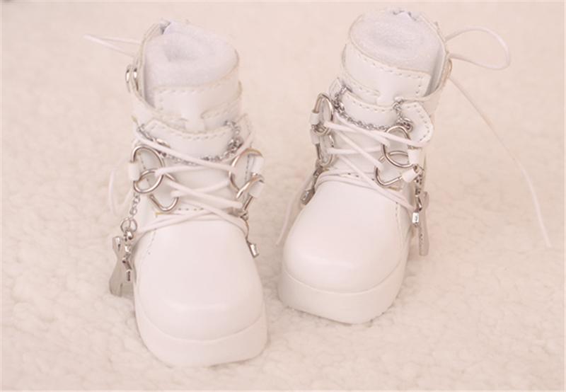 Bjd靴  ドール靴  ロザリオ 短靴 黒白 人形靴 1/4 単独で購入できない製品図2