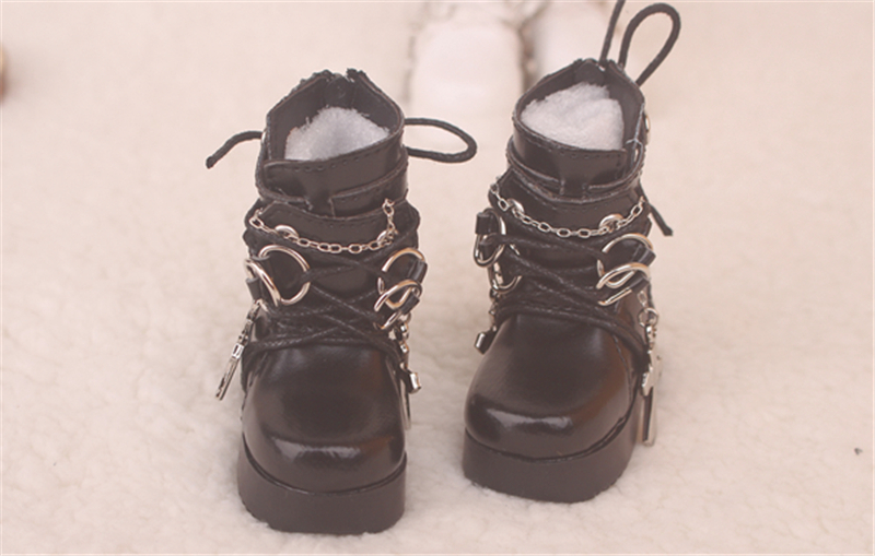 Bjd靴  ドール靴  ロザリオ 短靴 黒白 人形靴 1/4 単独で購入できない製品図3