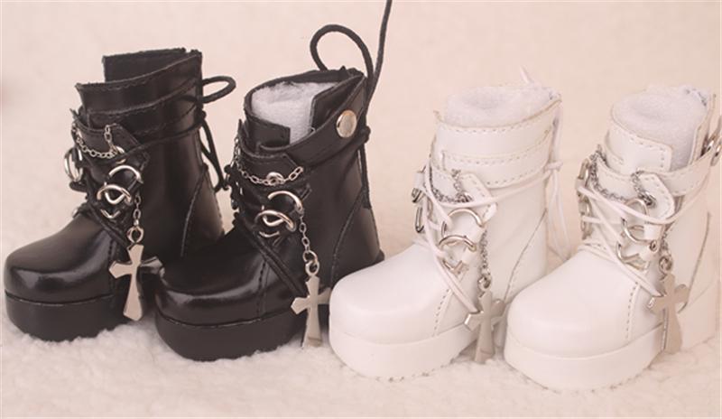 Bjd靴  ドール靴  ロザリオ 短靴 黒白 人形靴 1/4 単独で購入できない製品図4