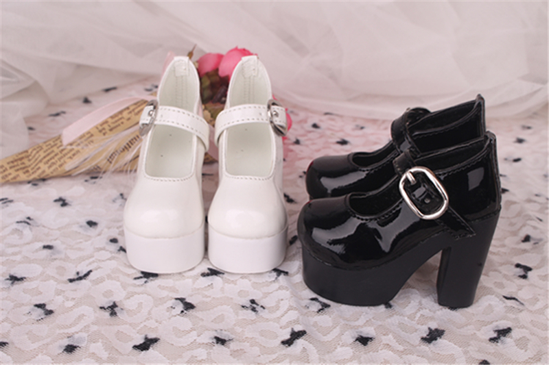 Bjd靴 ドール靴 ハイヒール 黒白 人形靴 1/3 1/4 単独で購入できない製品図1