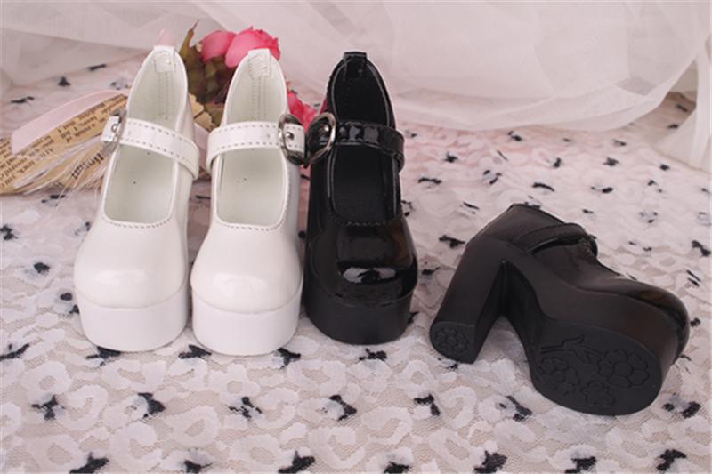 Bjd靴 ドール靴 ハイヒール 黒白 人形靴 1/3 1/4 単独で購入できない製品図2