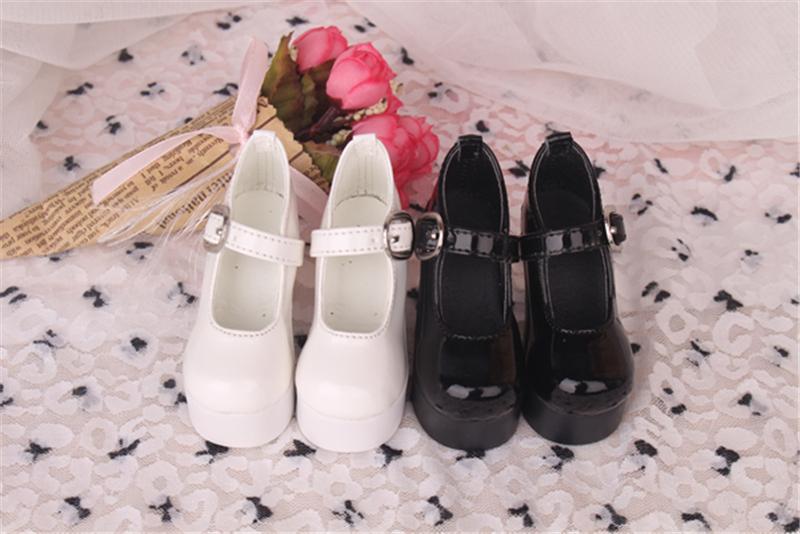 Bjd靴 ドール靴 ハイヒール 黒白 人形靴 1/3 1/4 単独で購入できない製品図3