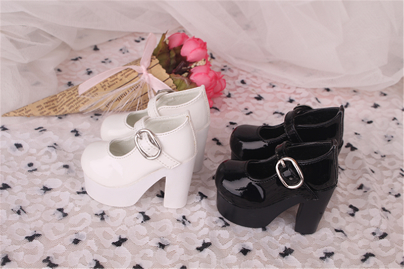 Bjd靴 ドール靴 ハイヒール 黒白 人形靴 1/3 1/4 単独で購入できない製品図4