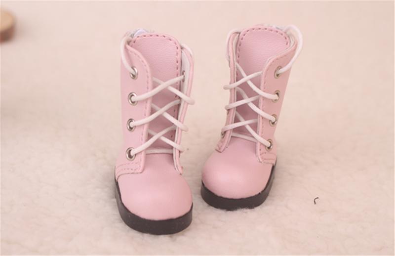 Bjd靴 ドール靴 可愛い長靴 ピンク黒 人形靴 1/6 単独で購入できない製品図1