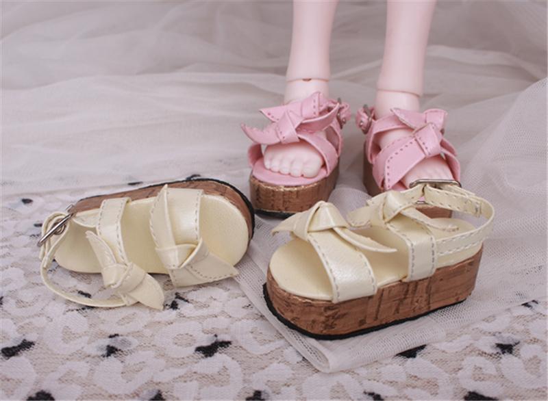 Bjd靴 ドール靴 蝶結びサンダル 人形靴 1/4 単独で購入できない製品図1