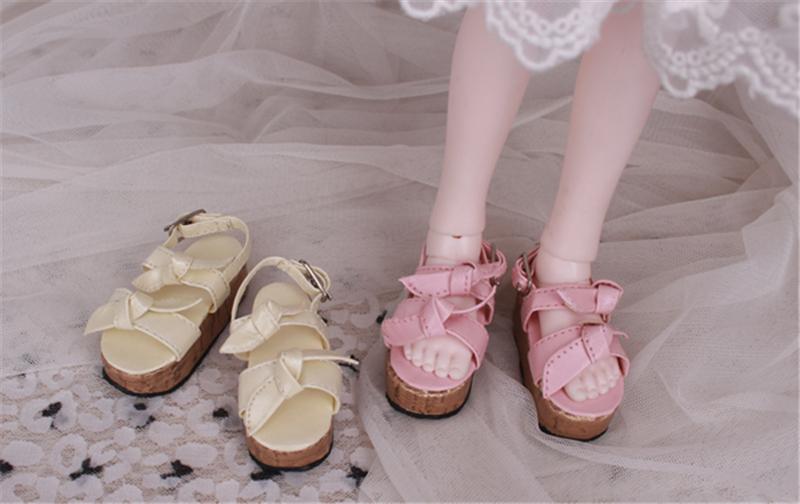 Bjd靴 ドール靴 蝶結びサンダル 人形靴 1/4 単独で購入できない製品図2