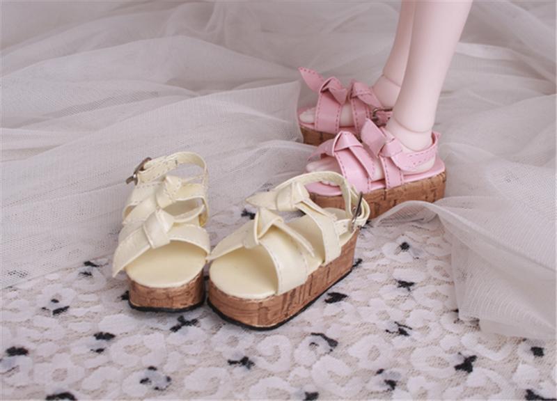 Bjd靴 ドール靴 蝶結びサンダル 人形靴 1/4 単独で購入できない製品図3