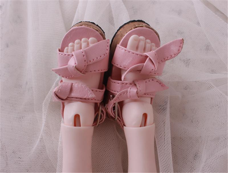 Bjd靴 ドール靴 蝶結びサンダル 人形靴 1/4 単独で購入できない製品図4