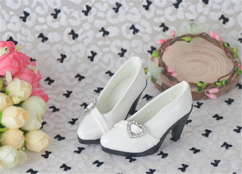 Bjd靴 ドール靴 心の形 ハイヒール 人形靴 1/3 単独で購入できない製品図1