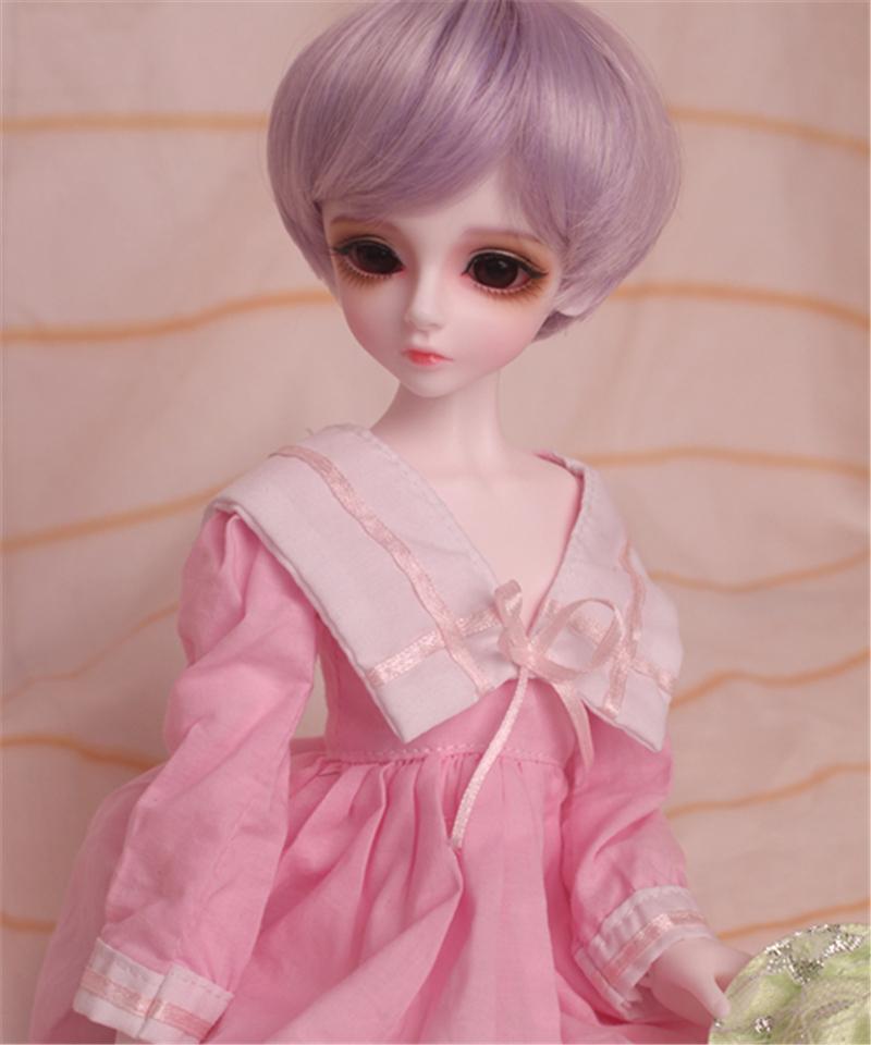 人形ウィッグ BJDウィッグ 短髪 紫色 ショートカット 1/6 1/4 1/3 単独で購入できない製品図5