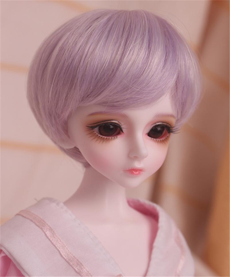 人形ウィッグ BJDウィッグ 短髪 紫色 ショートカット 1/6 1/4 1/3 単独で購入できない製品図1