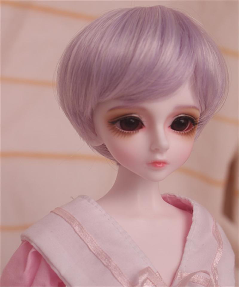 人形ウィッグ BJDウィッグ 短髪 紫色 ショートカット 1/6 1/4 1/3 単独で購入できない製品図2