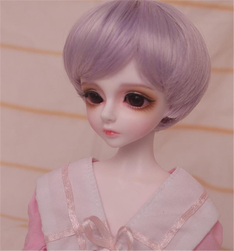 人形ウィッグ BJDウィッグ 短髪 紫色 ショートカット 1/6 1/4 1/3 単独で購入できない製品図3