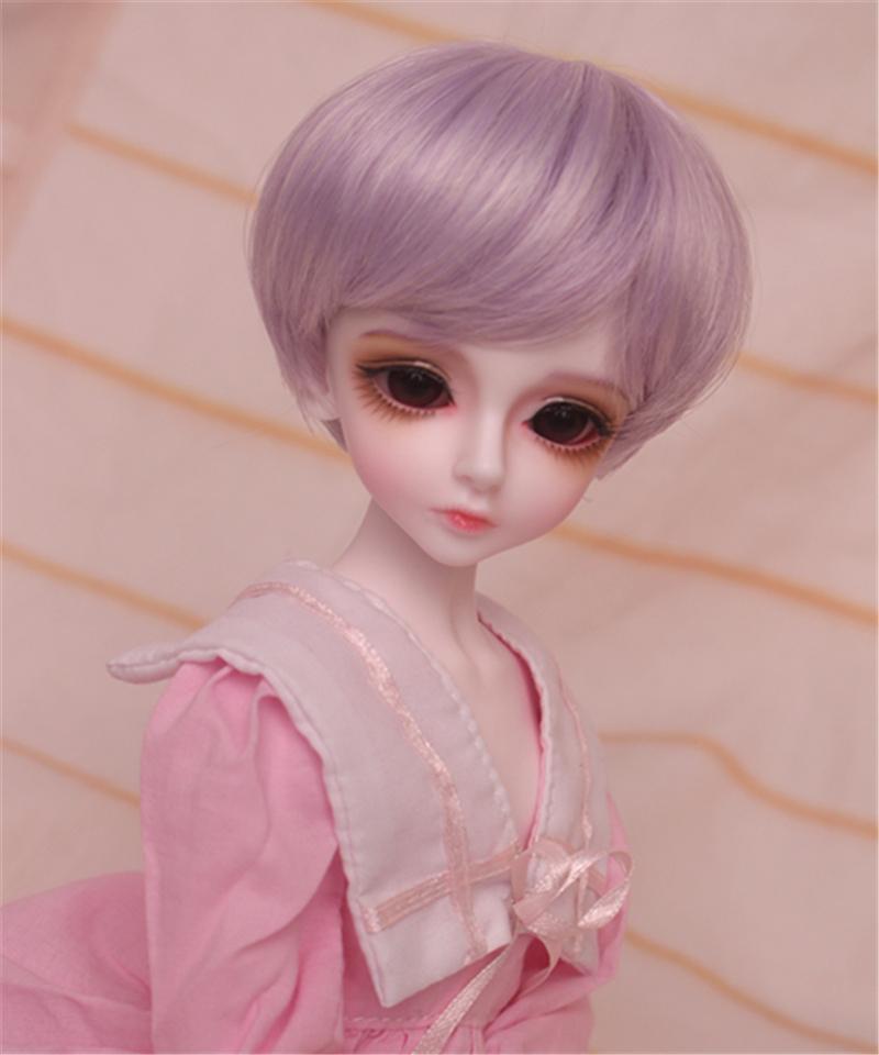 人形ウィッグ BJDウィッグ 短髪 紫色 ショートカット 1/6 1/4 1/3 単独で購入できない製品図4