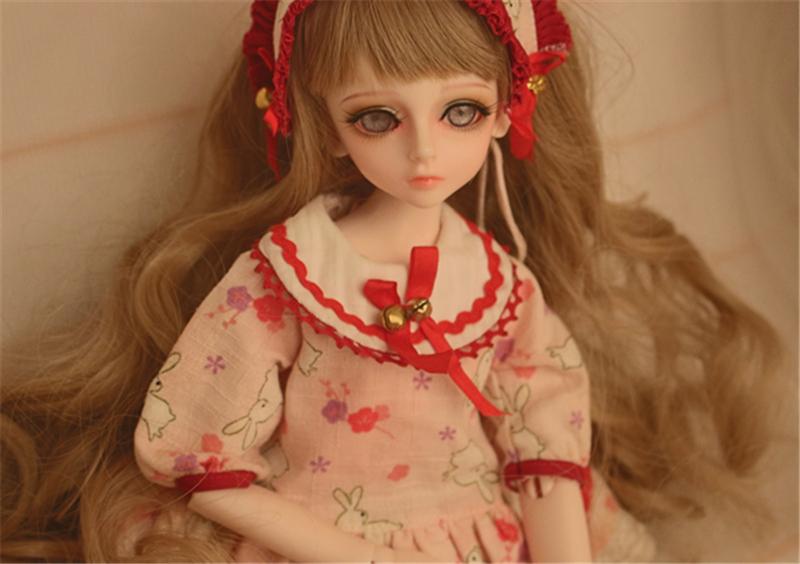 人形ウィッグ BJDウィッグ 黄色 巻き髪 1/4 単独で購入できない製品図2