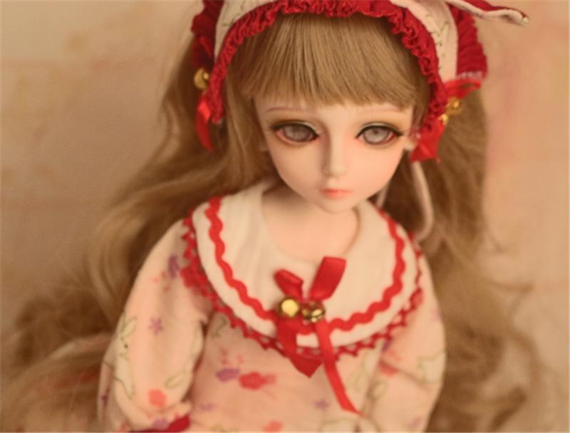 人形ウィッグ BJDウィッグ 黄色 巻き髪 1/4 単独で購入できない製品図3
