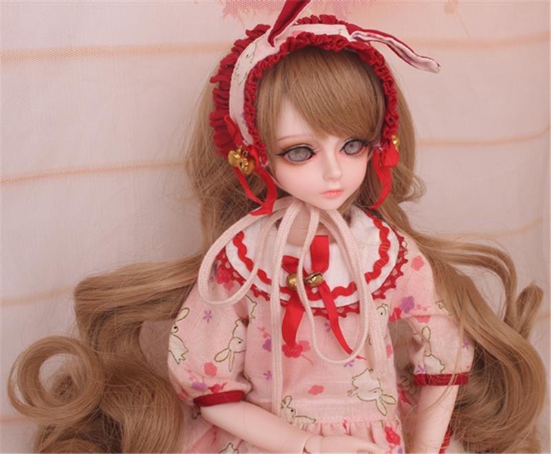人形ウィッグ BJDウィッグ 黄色 巻き髪 1/4 単独で購入できない製品図4