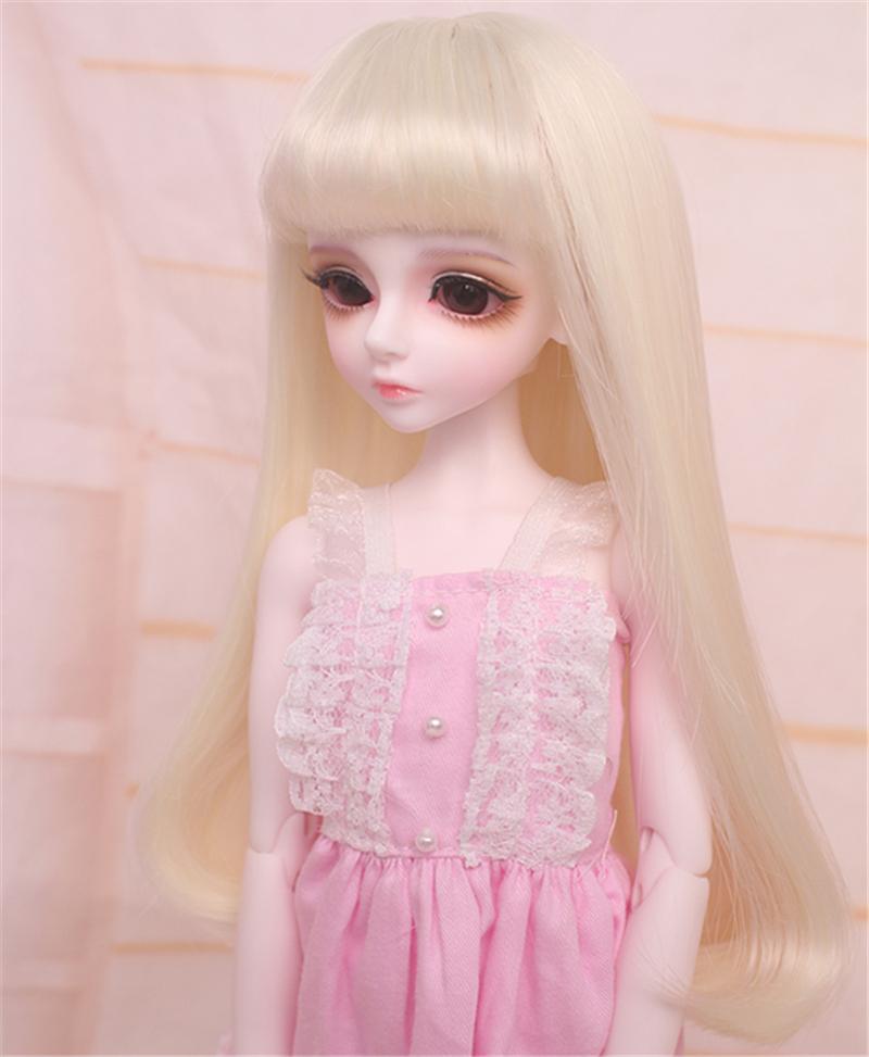 人形ウィッグ BJDウィッグ 浅金色 微々巻き髪 1/4 単独で購入できない製品図1