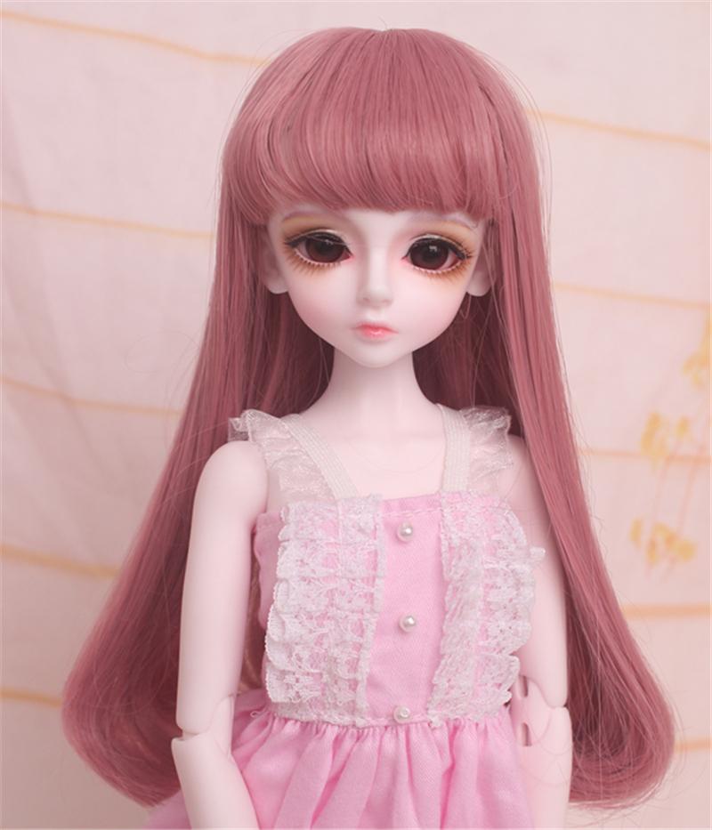 人形ウィッグ BJDウィッグ 浅金色 微々巻き髪 1/4 単独で購入できない製品図2