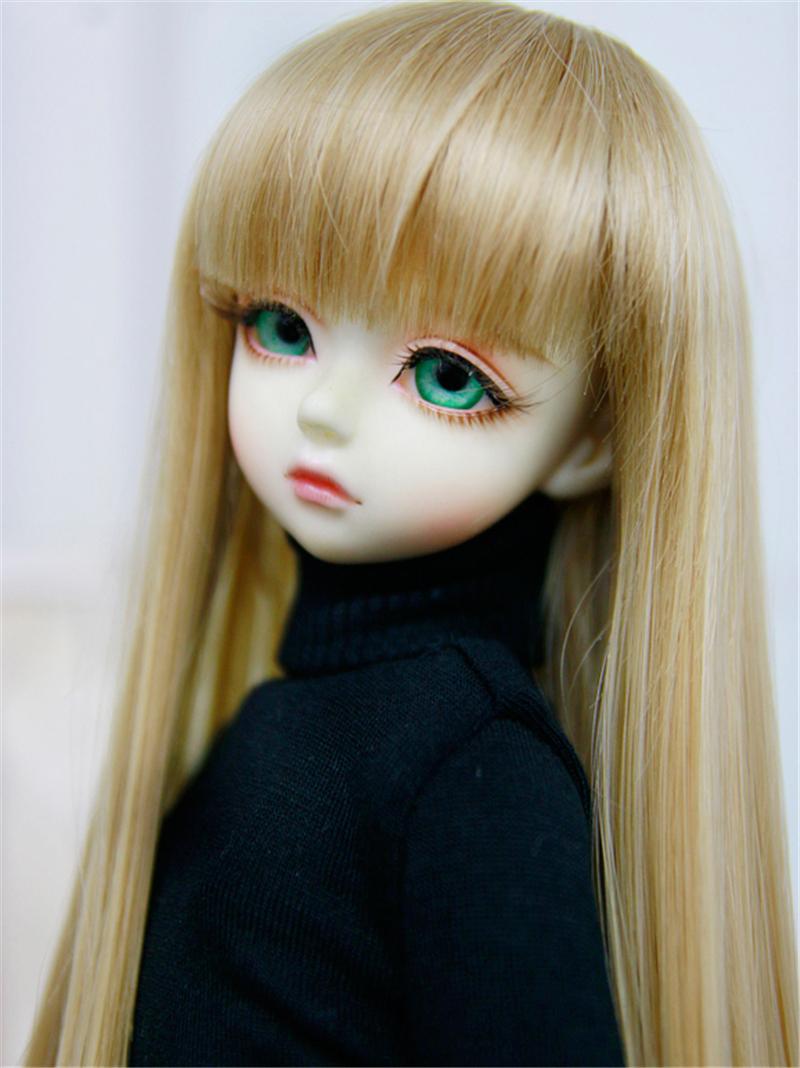 人形ウィッグ BJDウィッグ ストレートバング ロングヘア 長髪 1/4 1/3 単独で購入できない製品図1