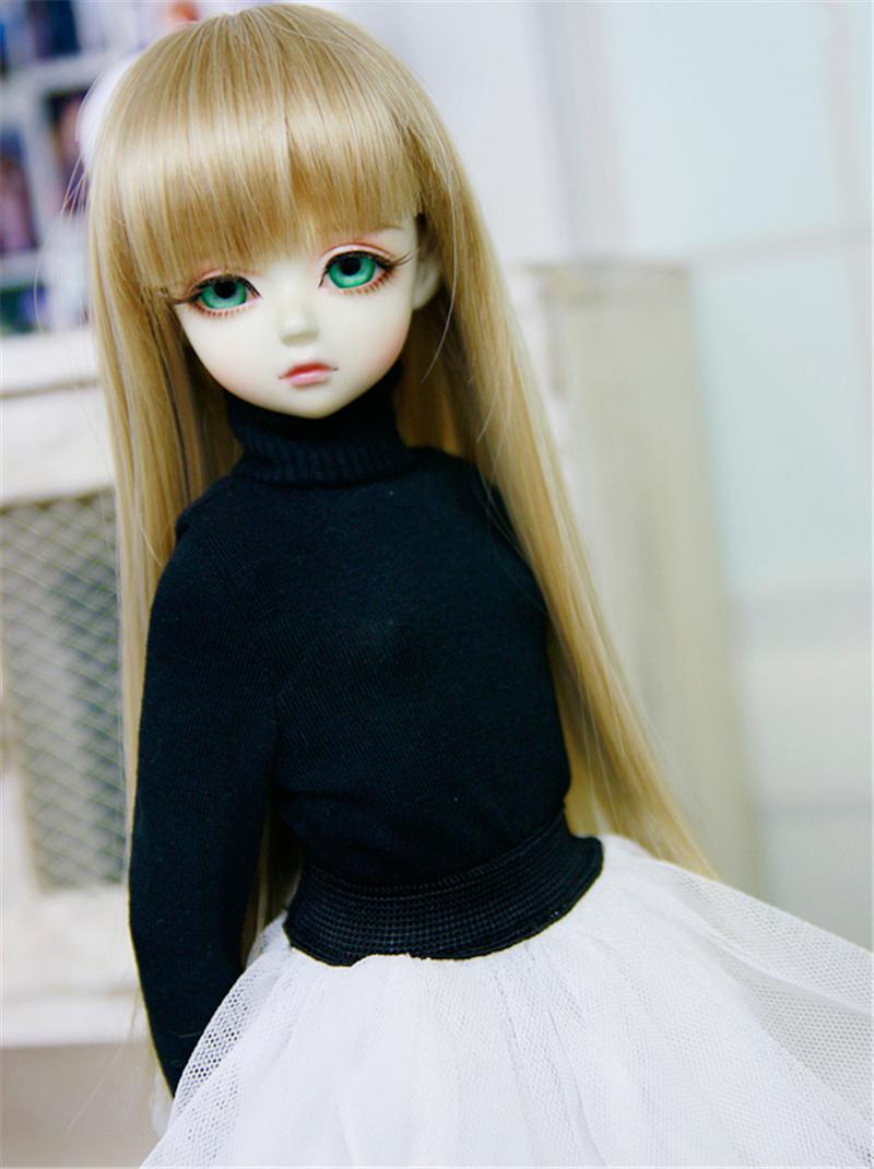 人形ウィッグ BJDウィッグ ストレートバング ロングヘア 長髪 1/4 1/3 単独で購入できない製品図2