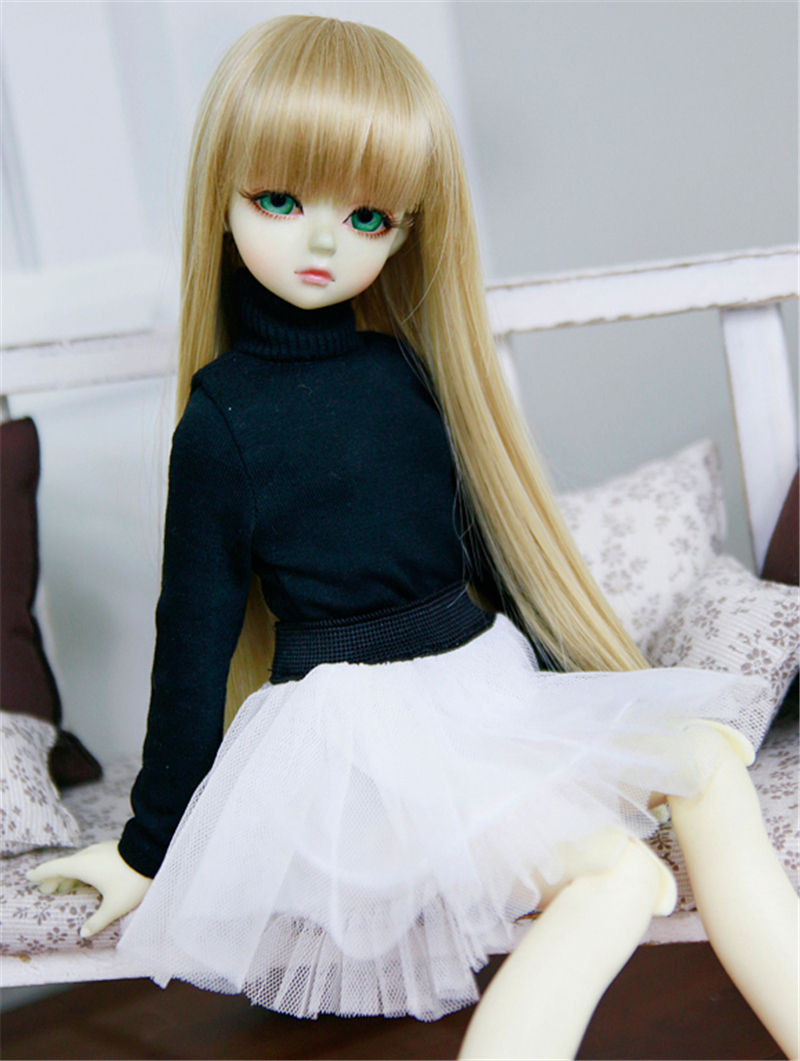 人形ウィッグ BJDウィッグ ストレートバング ロングヘア 長髪 1/4 1/3 単独で購入できない製品図3