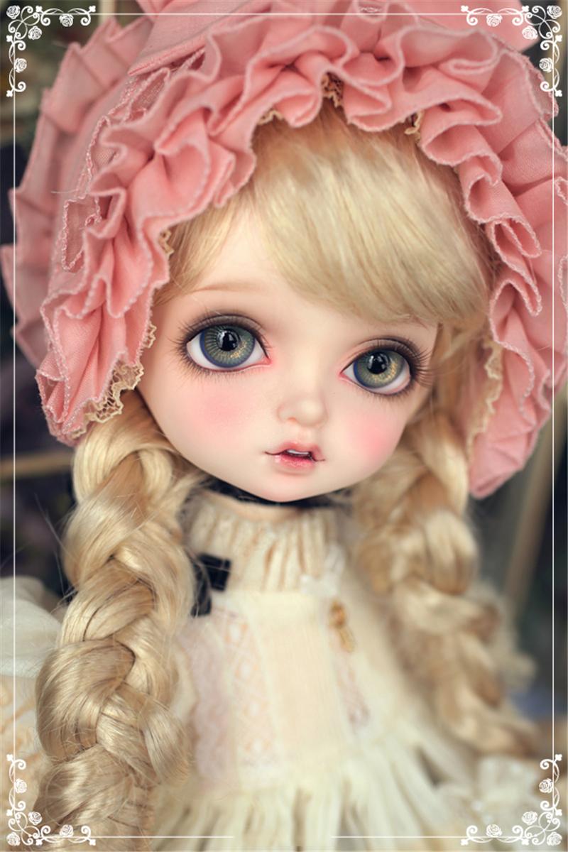 人形ウィッグ BJDウィッグ Bambi ロングヘア 長巻き髪 1/4 単独で購入できない製品図1