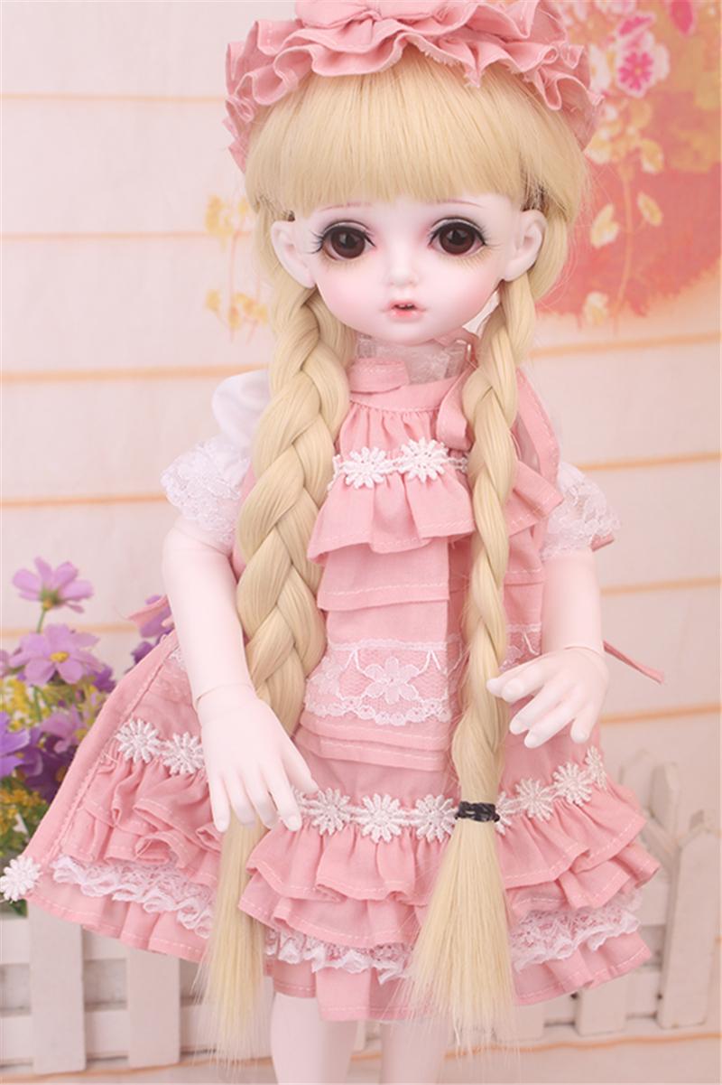 ドール衣装 bambi 巨児 ピンクスーツBJD衣装 1/4 サイズが注文できる製品図5