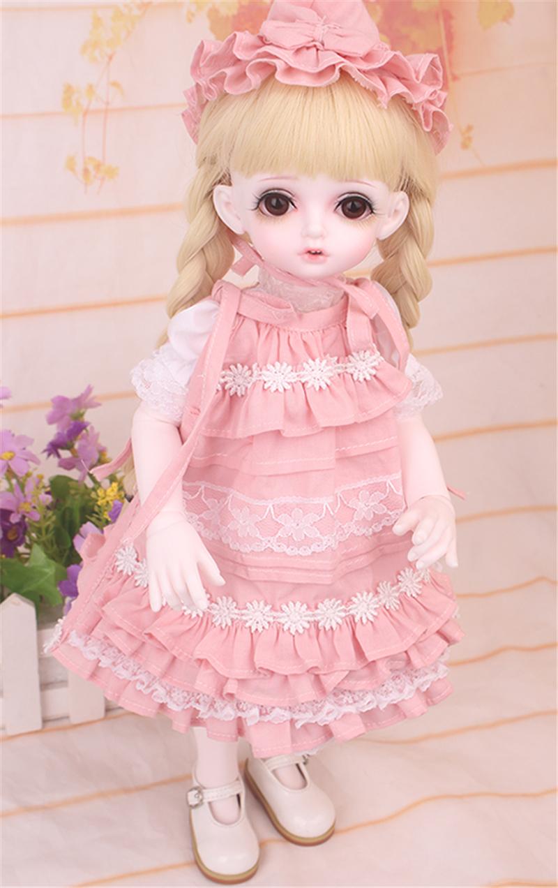 ドール衣装 bambi 巨児 ピンクスーツBJD衣装 1/4 サイズが注文できる製品図6