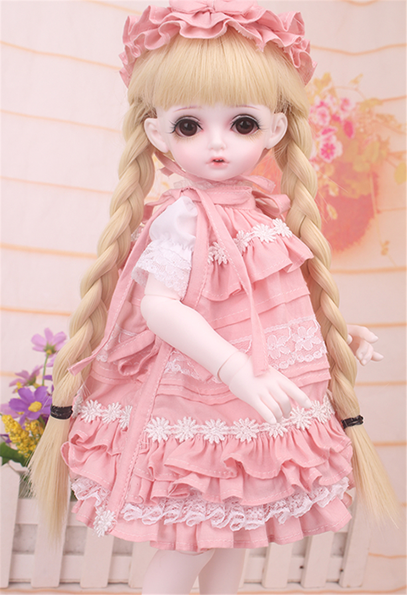 ドール衣装 bambi 巨児 ピンクスーツBJD衣装 1/4 サイズが注文できる製品図7