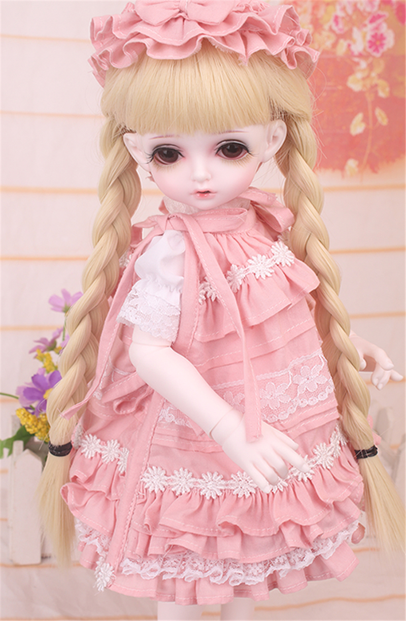 ドール衣装 bambi 巨児 ピンクスーツBJD衣装 1/4 サイズが注文できる製品図8