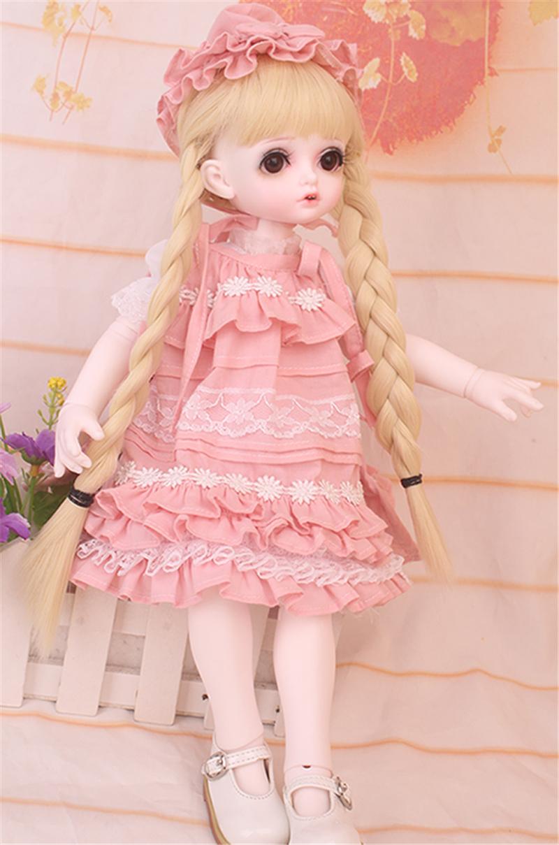 ドール衣装 bambi 巨児 ピンクスーツBJD衣装 1/4 サイズが注文できる製品図1