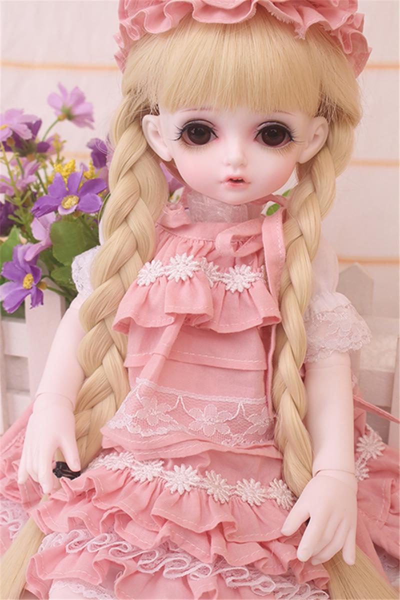 ドール衣装 bambi 巨児 ピンクスーツBJD衣装 1/4 サイズが注文できる製品図3