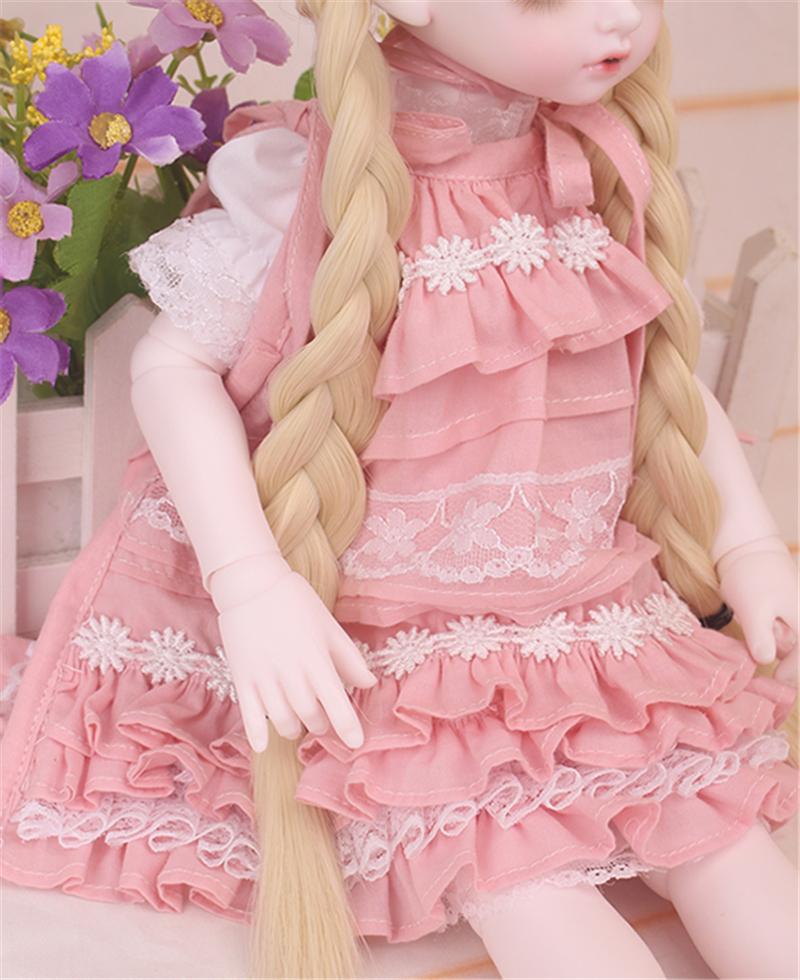 ドール衣装 bambi 巨児 ピンクスーツBJD衣装 1/4 サイズが注文できる製品図4